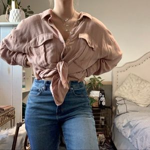 American Eagle Oversized Button Up